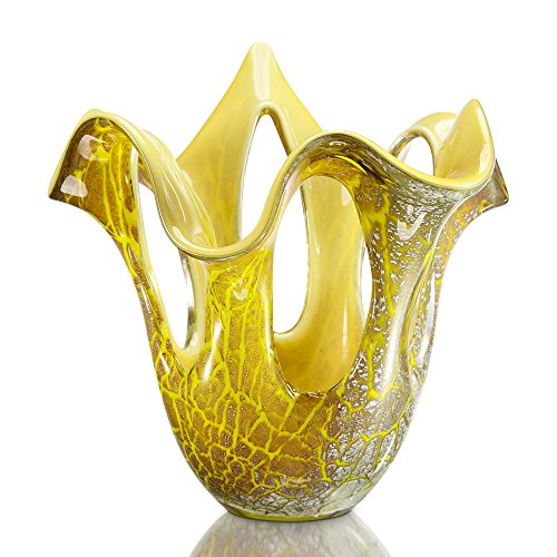 Viridian Bay Rochia Fusa Glass Vase (Hand Blown Vase)