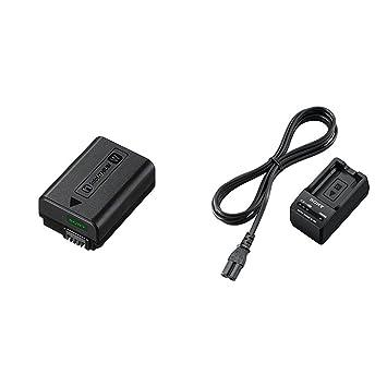 Sony NPFW50/C1 -Batería, color negro + Sony BCTRW - Cargador para NP-FW50, negro