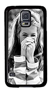 S5 Case, Galaxy S5 Case, Samsung Galaxy S5 Case - Hard PC Protective Dark Cute Sweet Smile Girl Macro Glorious Case Black Cover Heavy Duty Protection Shock-Absorption / Impact Resistant Slim Case for Galaxy S5 / Galaxy SV / Galaxy S V / Galaxy i9600