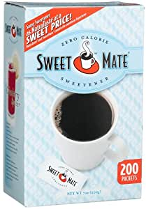 Sweet Mate Zero Calorie Sweetener, 200-Count Packets (Pack of 6)