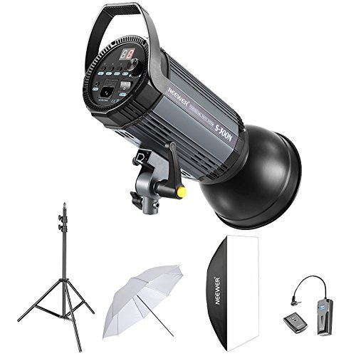 Neewer 300W Studio Strobe Flash Photography Lighting Kit:(1) S-300N Monolight,(1)Reflector Diffuser,(1)Softbox,(1) 33 Inches Umbrella,(1)RT-16 Wireless Trigger,(1)Light Stand for Shooting Bowens Mount by Neewer