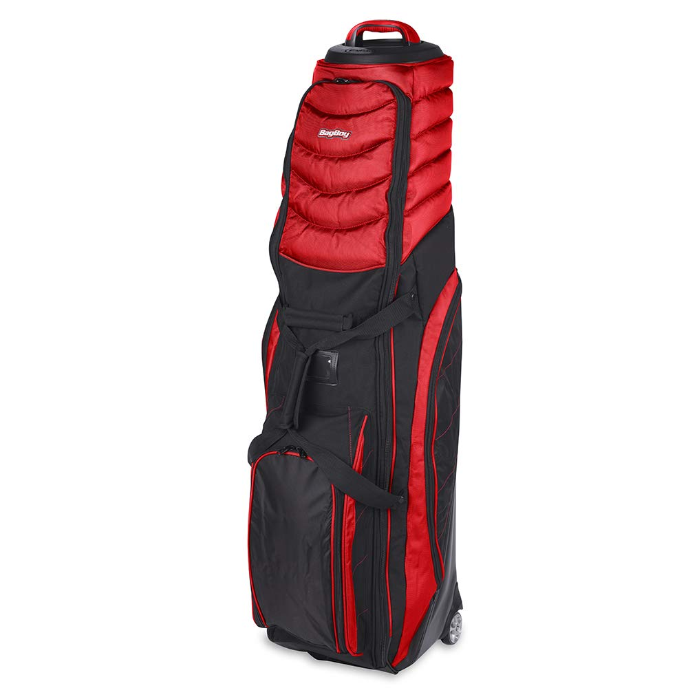 Bag Boy T-2000 Pivot Grip Wheeled Travel Cover, Red/Black