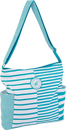 white Joe Turquoise Size amp; Turquoise White Hobo Handbag Blue Caribbean blue Striped One 7awqzvwd