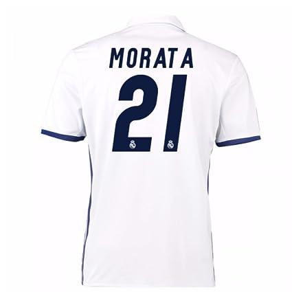 pretty nice ee3a7 133ac Amazon.com : 2016-17 Real Madrid Home Football Soccer T ...