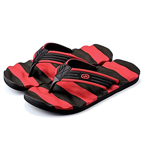 Infradito Da Estate Uomo Adulti Flop Plus Large MERRYHE Sandali Pantofole Red Fashion Casual Flip Travel Da Mare Infradito HdYwvq