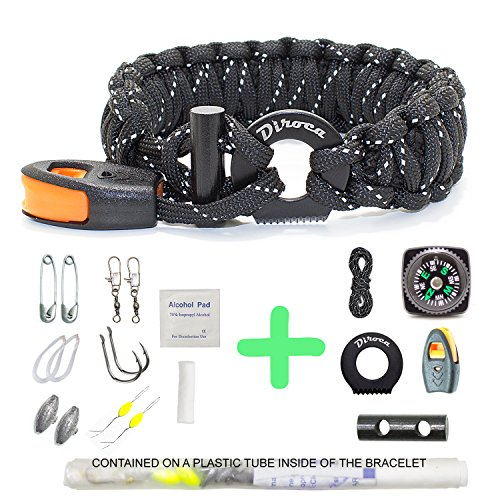 Paracord Bracelet Survival Gear | 550 Premium Black