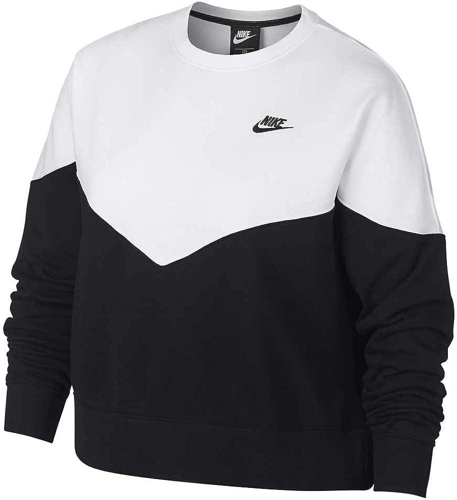 NIKE Sportswear Heritage Fleece Crew (Plus Size) - Sudadera Mujer ...
