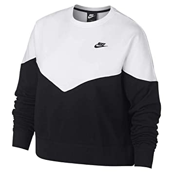 Nike Sportswear Heritage Fleece Crew (Plus Size) Sudadera, Mujer: Amazon.es: Deportes y aire libre