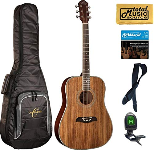 Oscar Schmidt OG2 Dreadnought Acoustic Guitar - Koa Gigbag Bundle