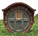 Ebros Gift Enchanted Fairy Garden Miniature Hobbit Dwarf Gnome Vault Dome Brick House Door Figurine 4″H Do It Yourself Ideas For Your Home Review