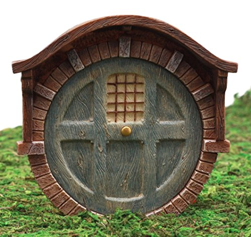 Ebros Gift Enchanted Fairy Garden Miniature Hobbit Dwarf Gnome Vault Dome Brick House Door Figurine 4