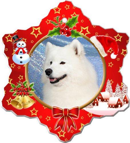 (Samoyed Porcelain Holiday Ornament)