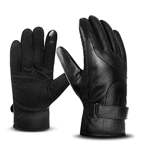 F1rst Rate Running Gloves Touchscreen Antislip for Men Winter Liner Gloves Cycling Glove(Black-One Size)