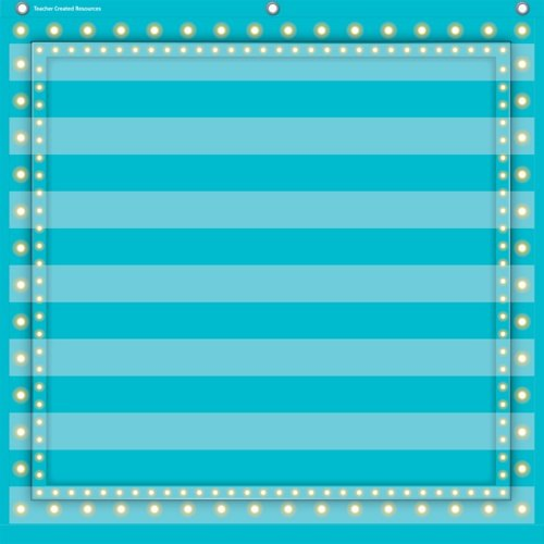 Teacher Created Resources Light Blue Marquee 7 Pocket Chart (28'' x 28'')