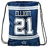 Forever Collectibles NFL Dallas Cowboys Ezekiel Elliott #21 Player Drawstring Backpack