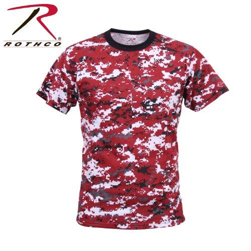 Rothco T-Shirt, Digital Red Camo, -