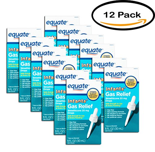 PACK OF 12 - Equate Non Staining Formula Infants' Gas Relief Drops, 1 fl oz by Equate (Image #7)