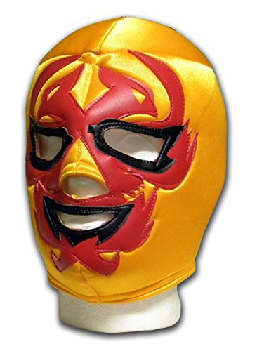 Dos Caras Dark Gold adult mexican luchador Wrestling mask by Luchadora by Luchadora