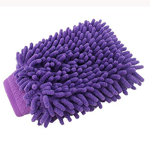 - SMALLE ◕‿◕ Chenille Gloves, Car Wash Mitt-Premium Chenille Microfiber Wash Mitt - Wash Glove - Lint Free - Scratch Free Purple