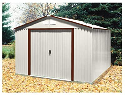 50431 DuraMax Model 10x10 Colossus brown trim Metal Shed