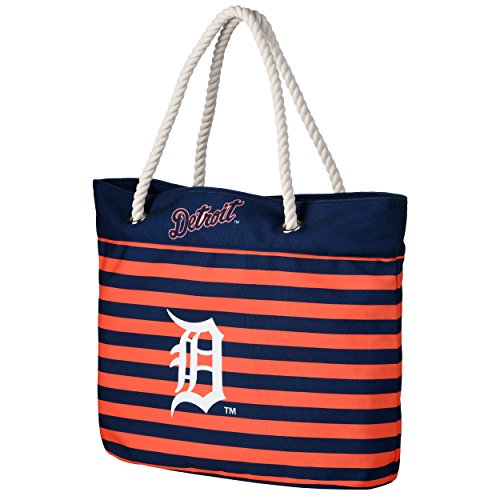 - Detroit Tigers Nautical Stripe Tote Bag