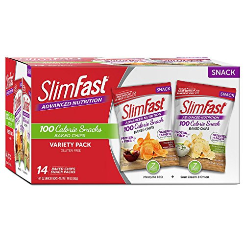 Slimfast Advanced Baked Crisps Variety, 14 Pack
