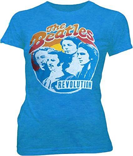 The Beatles Revolution Blueberry Blue Juniors T-shirt ()