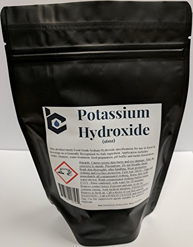 Potassium Hydroxide   Food Grade  Caustic Potash   1 Pound