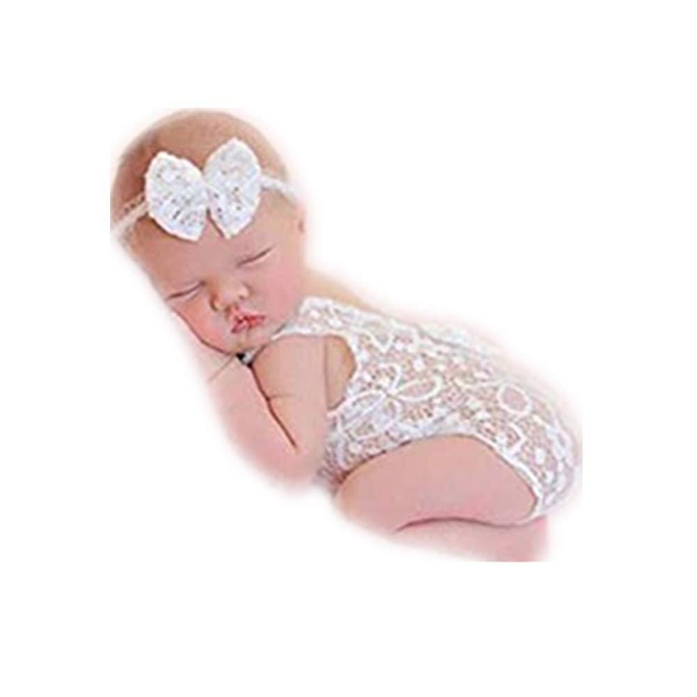 Linberfor Puntelli di fotografia del bambino appena nato del bambino Ragazze pagliaccetto maglia gilet tutine pagliaccetto servizio fotografico vestiti da principessa