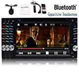 6.2 inch Double Din Car Stereo in Dash Capacitive Touch Screen Car DVD Player 1080P Video 2 din Autoradio Bluetooth NO-GPS Stereos Support USB TF FM/AM RDS SWC Remote Control + Reversing Camera Review