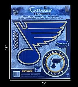 "St.Louis Blues 12"" Fathead Jumbo Multi-Use Coloured Decal Sticker"