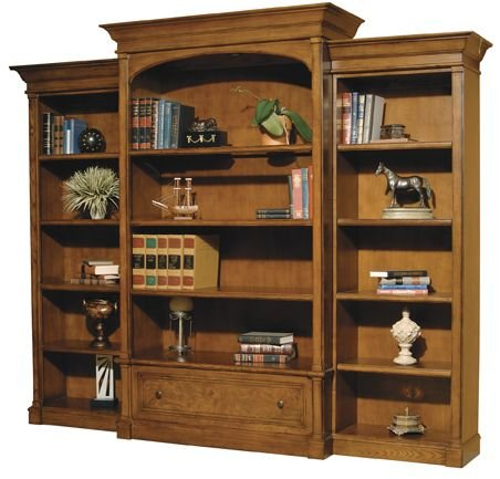 Chair Executive Furniture Hekman - Executive Bookcase w/ Piers by Hekman - Urban Ash Burl (79104R)