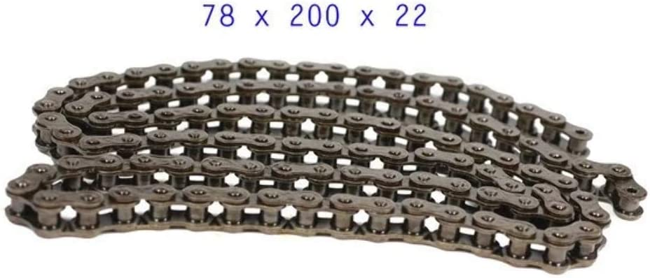 Coleman Massimo 200 Mini Bike Long Chain by VMC CHINESE PARTS 420 x 90 Links Drive Chain with Master Link
