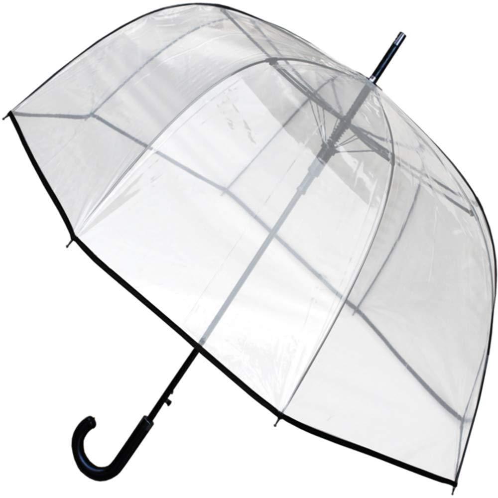 COLLAR AND CUFFS LONDON - Parapluie Transparent StormDefender ClearVision - Robuste - Conception HAUTEMENT Technique pour Combattre Les DOMMAGES CAUSÉS par Les RETOURNEMENTS - Fibre de Verre - Dôme CCLSTORMPUMB10252