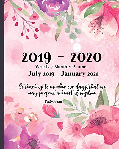 2019 - 2020 Weekly and Monthly Planner | July 2019