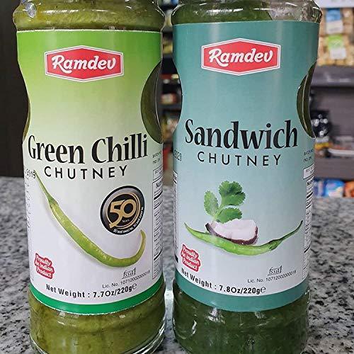 Ramdev Sandwich Chutney 1x250g – Ramdev Groene Chilli Chutney 1x250g
