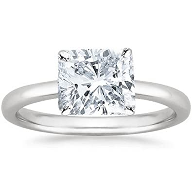9ae98a6830d420 GIA Certified Platinum Cushion Cut Solitaire Diamond Engagement Ring (4.01  Carat E Color SI1 Clarity