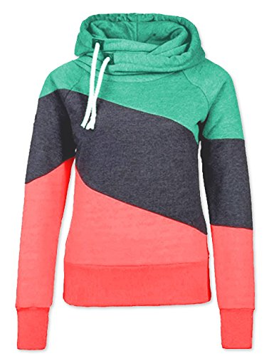 Women Cowl Neck Thick Solid Flannel Hoodies Sweatshirt Pullover – DiZiSports Store