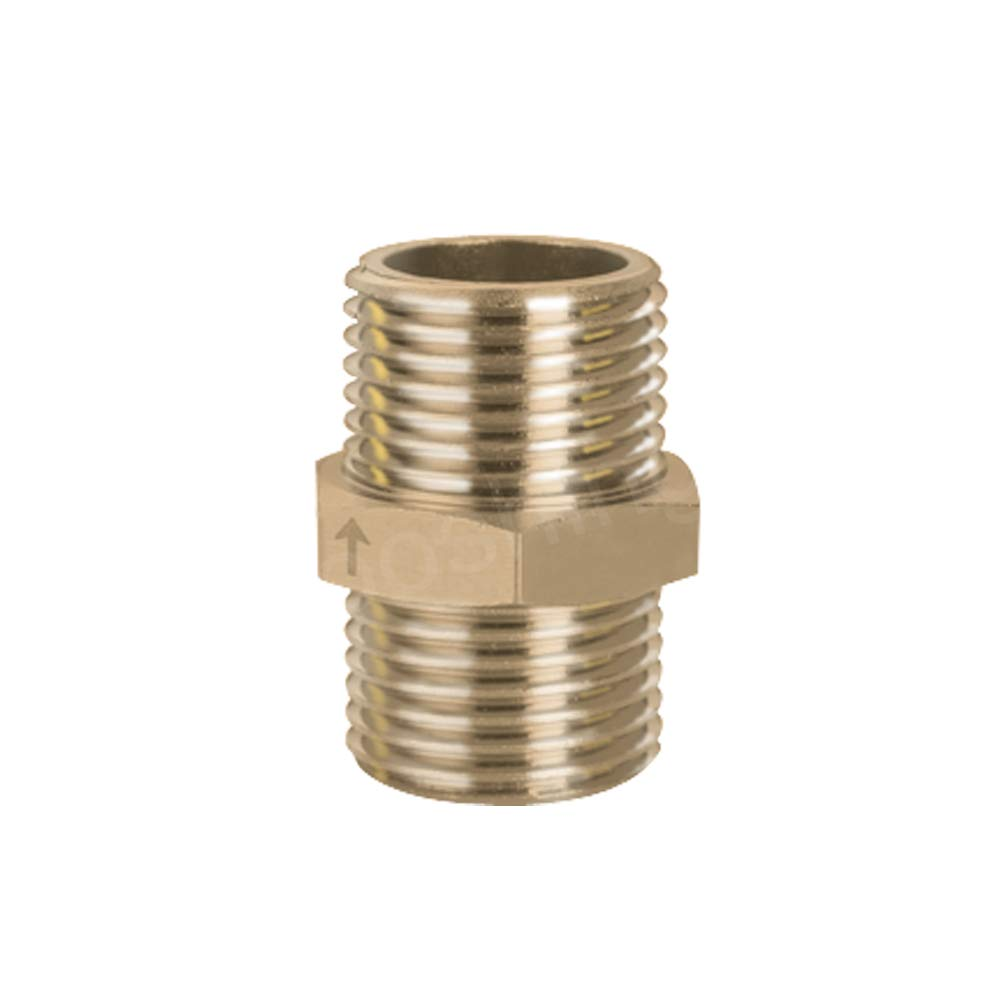Hooshing Brass Check Valve 1//2 Male to 1//2 Male Thread Non Return One Way