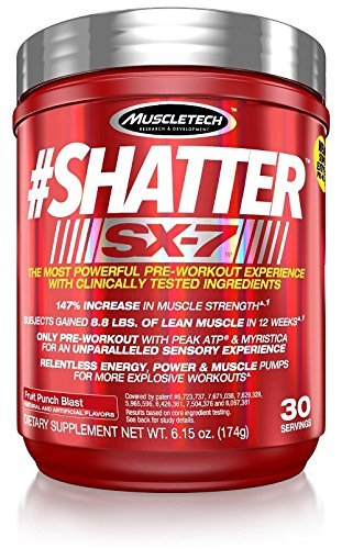MuscleTech Shatter SX-7 Fruit Punch Supplement - Pack of 30 by Muscle Tech
