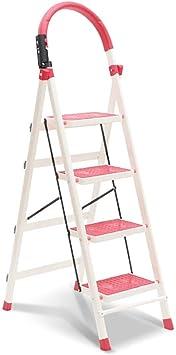 Stepladder Escalera plegable de acero portátil de 4 pasos Escalera de taburete, pies antideslizantes |Diseño plegable fácil de almacenar - Ideal for el hogar/la cocina/el garaje - Capacidad robust: Amazon.es: Bricolaje y