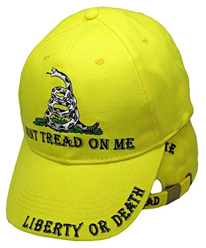 (Set of 2 Liberty or Death Gadsden Don't Tread on Me Ready to Strike Yellow Ball Hat Cap)