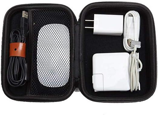 iplusmile Caja de Almacenamiento de Auriculares EVA Estuche de Almacenamiento de Banco de energía con Bolsa de Almacenamiento portátil para Mouse portátil - 17x12x6.5cm (Negro): Amazon.es: Hogar