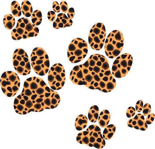 Leopard Paw Print Stickers Aurum92