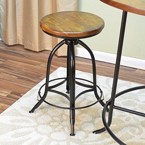 Carolina Cottage Ryder Adjustable Stool - Set of (Carolina Cottage Black Dining Table)