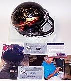 Bobby Bowden & Charlie Ward Autographed Hand Signed FSU Florida State Seminoles Black Mini Football Helmet - PSA/DNA