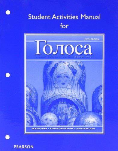 Golosa:Basic...Russian,Bk.2 Act.Manual
