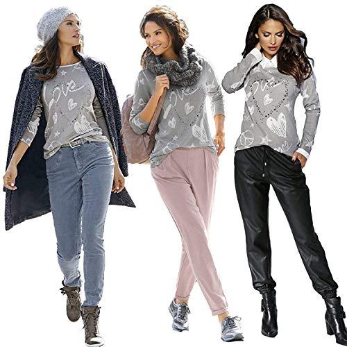 Rond Elgante Style Chemise Haut Jeune Mode Femme Mode Chemisier Manches Longues Motif Shirts De Strass Impression Coeur Automne Hiver Rose Col Spcial Casual xxtvOq4p