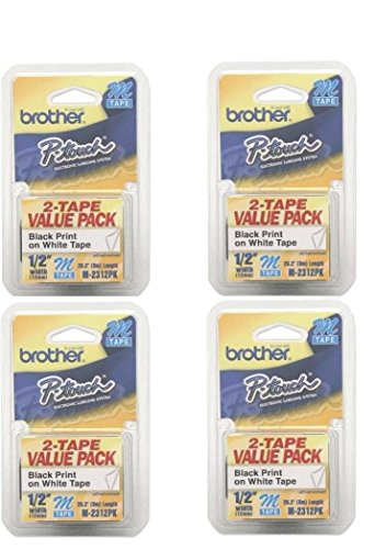 Brother Printer P-Touch M2312PK M Series Tape Cartridges for