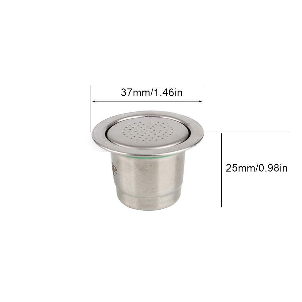 Aikeec Filtro de c/ápsulas de caf/é desechables de acero inoxidable con 1 cuchara para cafetera Nespresso